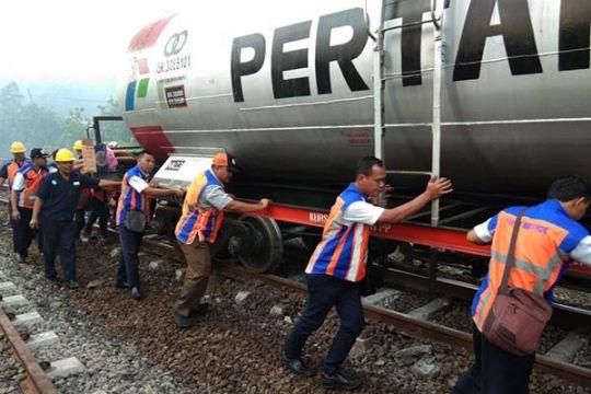 KA Gamao tanker anjlok di Notog, Banyumas