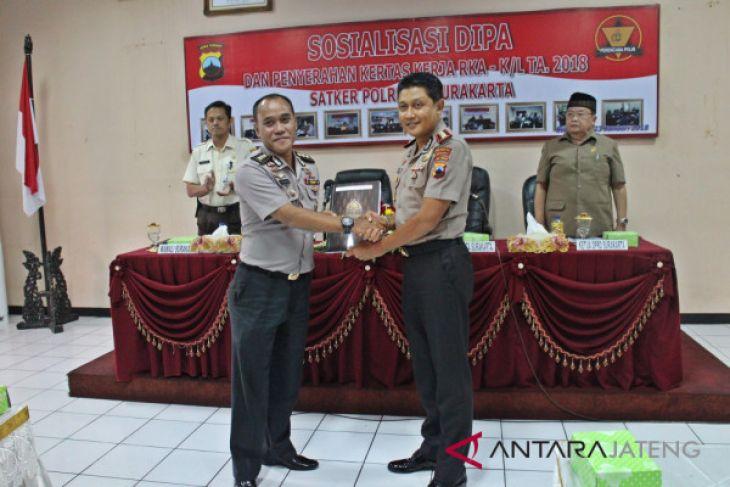 DIPA 2018 Polresta Surakarta mencapai Rp118,208 miliar