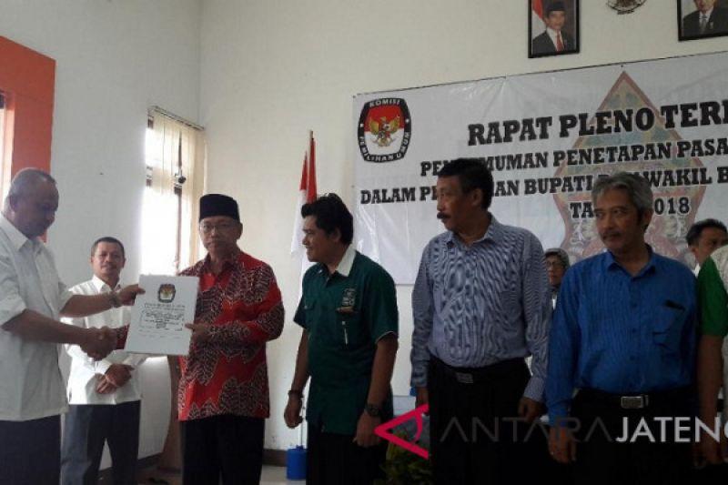 Resmi ditetapkan, tiga pasangan calon bertarung di Pilkada Temanggung