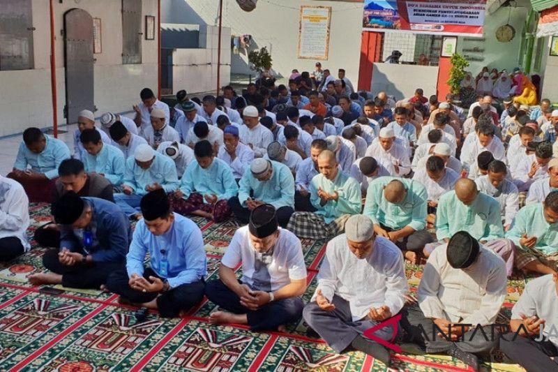 Doa warga binaan Rutan Boyolali untuk korban gempa