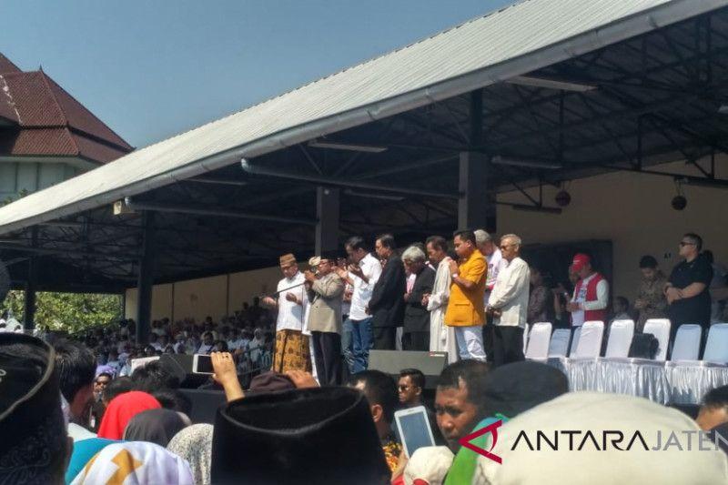 Presiden Jokowi ajak masyarakat doakan korban tsunami Donggala-Palu