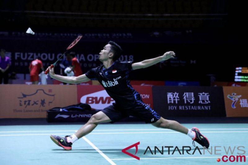 Taklukkan Jonatan, Ginting ke perempat final Fuzhou China Open 2018