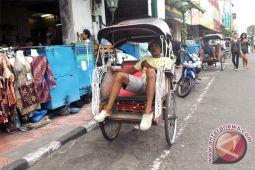 Becak Malioboro kesulitan jika dimninta bekerja