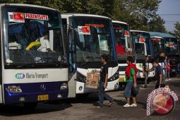 Puluhan bus mudik tiba di Gunung kidul