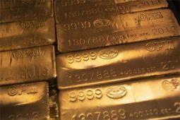 Emas berbalik naik setelah ekuitas dan dolar AS mundur