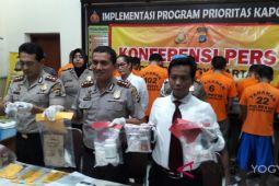 Polresta Yogyakarta bekuk tujuh tersangka penyalahguna narkotika