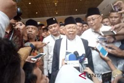 Ma'ruf Amin mohon dukungan kiai NU Se-DIY