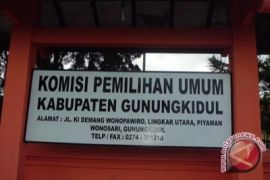 KPU Gunung Kidul mencoret 33 bacaleg