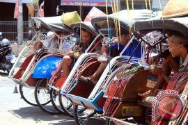Yogyakarta kaji tiga tipe becak alternatif