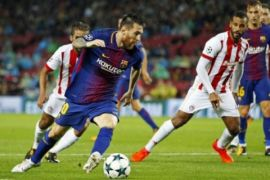 Lionel Messi cetak gol keseratusnya dalam Liga Champions