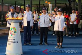 Pawai Obor Asian Games dimulai dari Pagelaran Keraton Yogyakarta (video)