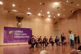 43 mahasiswa Se-Indonesia lomba menyanyi keroncong Peksiminas 2018