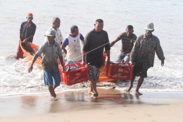 Nelayan Pantai Bugel panen ikan bawal