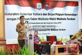 Silaturahmi dengan Para Calon Walikota dan Wawali, Gubernur Ajak Berpolitik Santun