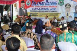 Dirjen Kemendes-PDT Kunjungi Desa Bungai Jaya