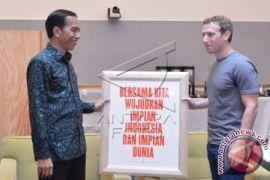 Presiden Kunjungi Facebook dan Google