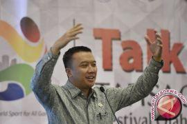 Alhamdulillah medali emas Indonesia sudah tembus dua digit, kata Menpora