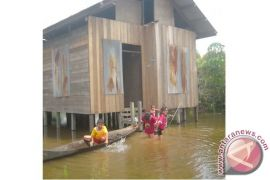 Warga di Tepi Sungai Lamandau Waspadai Banjir