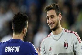 Aksi  Gianluigi Donnarumma hambat langkah Napoli untuk kejar Juventus