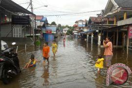 Sungai Barito Meluap, Banjiri Sejumlah Ruas Jalan