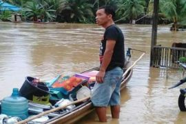 Banjir Bandang Kecamatan Gunung Purei Mulai Surut