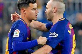 Bekal hadapi Chelsea, Barcelona bekuk Malaga