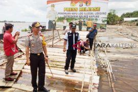 3.500 kayu log tak bertuan ditangani Polres Kapuas