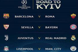 Ini hasil undian babak perempat final Liga Champions