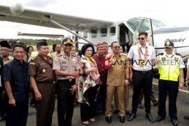 Susi Air penerbangan perdana di Bandara Buntok