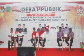 3 calon bupati Sukamara debat publik
