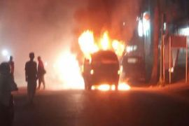 Mobil diduga pelangsir BBM meledak dekat SPBU Muara Teweh