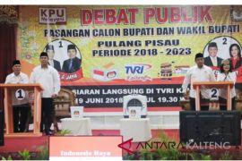 Debat publik 2  paslon Pilkada Pulpis berlangsung seru