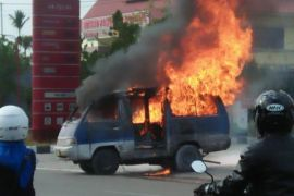 Mobil terbakar di area SPBU jalan Tjilik Riwut km 6,5, ini kronologisnya