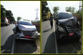 Mobil rombongan Gubernur Kalteng alami tabrakan beruntun