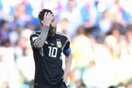 Messi gagal penalti, Argentina ditahan imbang Islandia