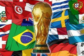 Ini pimpinan klasemen seluruh grup Piala Dunia