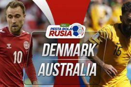 Prediksi pertandingan Piala Dunia Denmark vs Australia