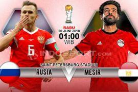 Prediksi Rusia vs Mesir: Rusia unggul 1 poin?