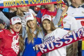 Fans Rusia berpesta rayakan kemenangan atas Mesir
