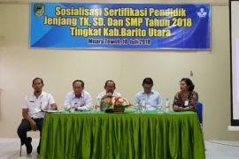 Disdik Barut gelar sosialisasi sertifikasi pendidik