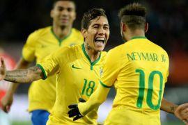 Neymar dan Firmino bawa Brasil ke perempat final