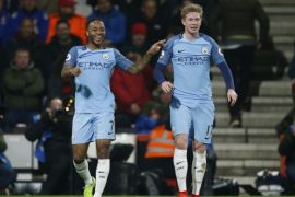 Manchester City siap turunkan De Bruyne-Sterling saat lawan Arsenal