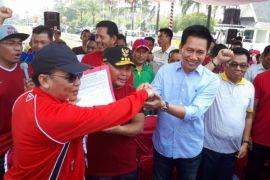 Seluruh Kepala Daerah se-Kalteng menyatakan dukungan kepada Jokowi-Ma'ruf