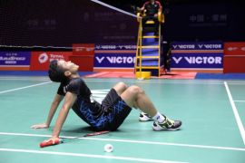 Kalah di Asian Games, Anthony Ginting buktikan diri mampu juarai China Terbuka