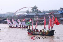 Karnaval jukung meriahkan deklarasi kampanye damai Kalteng