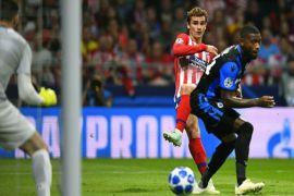 Atletico hajar Brugge, Griezmann sumbang dua gol
