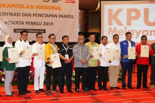 Penetapan Parpol Peserta Pemilu 2019