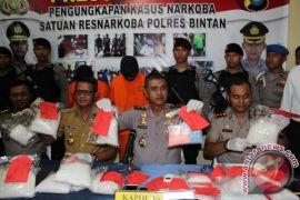 Polres Bintan Tangkap Kurir Narkoba dari Malaysia