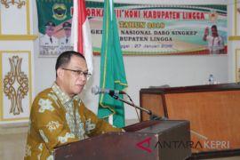 Ambok terpilih menjadi Ketua KONI Lingga
