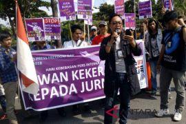 Aktivis AJI Tanjungpinang tuntut kebebasan pers